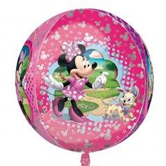 Balon Folie Orbz Sfera Minnie Mouse, 38 x 40 cm, Amscan 28394, 1 buc