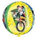 Balon Folie Orbz Sfera Mickey Mouse, 38 x 40 cm, Amscan 28399, 1 buc