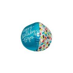 Balon Folie Sfera 3D Happy Birthday to You, 43 cm, 01016