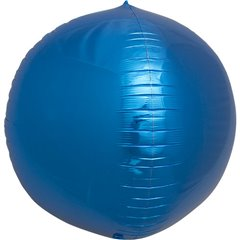 Balon folie Sfera 3D albastru metalizat - 43 cm, Northstar Balloons 01007, 1 buc