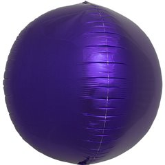 Balon folie Sfera 3D purple metalizat - 43 cm, Northstar Balloons 01009, 1 buc