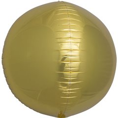 Balon folie Sfera 3D auriu metalizat - 43 cm, Northstar Balloons 01005, 1 buc