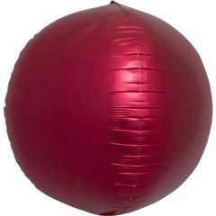 Balon folie Sfera 3D rosu metalizat - 43 cm, Northstar Balloons 01008, 1 buc