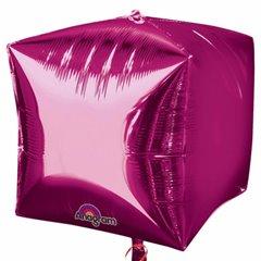 Balon Folie Cubez 3D Magenta, 45 cm, 01012