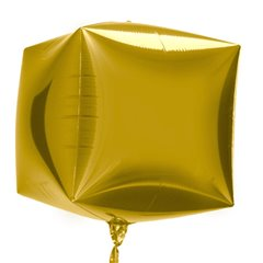Balon Folie Cubez 3D Auriu, 45 cm, Northstar Balloons 01011