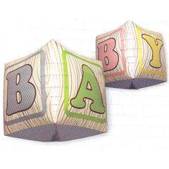 Balon Folie Cubez 3D Cuburi Bebelus, 43 cm, 01041
