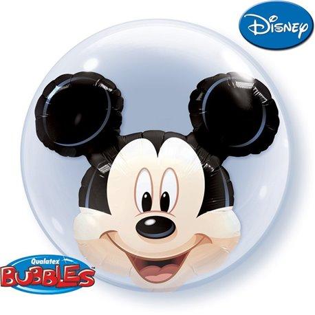 "Balon Double Bubble 24""/61cm Qualatex, Mickey Mouse, Qualatex 27569"