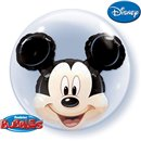 "Balon Double Bubble 24""/61cm Qualatex, Mickey Mouse, Qualatex 27569"