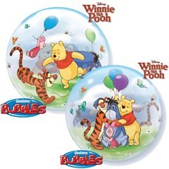 "Balon Bubble 22""/56cm Qualatex, Winnie the Pooh & Prietenii, 33086"