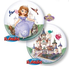 "Balon Bubble 22""/56cm Qualatex, Sofia The First, 65577"