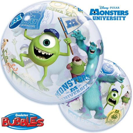 "Balon Bubble 22""/56cm Qualatex, Monsters University, 44711"