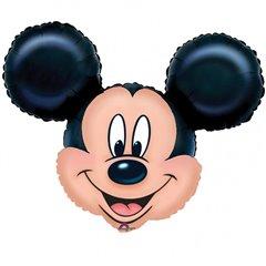 Balon Folie Figurina Mare Cap Mickey Mouse, Amscan, 69x53cm, 07764