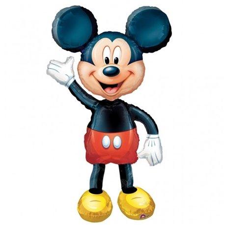 Balon Folie Airwalker Mickey Mouse Disney, Amscan, 132 cm, 08318