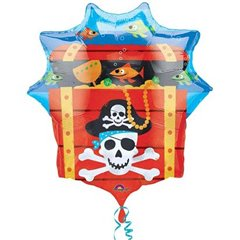 Balon Folie Figurina Pirate Treasure Chest, Amscan, 63 x 71 cm, 10997