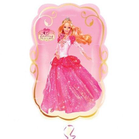 Balon Folie Figurina Barbie Danseaza, 41 x 64 cm, 12979