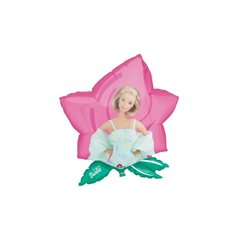 Balon Folie Figurina Barbie Floare, Amscan, 59x63cm, 06626