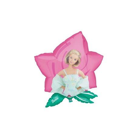 Balon Folie Figurina Barbie Floare, Amscan, 59x63cm, 06626