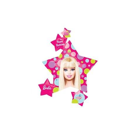 Balon Folie Figurina Barbie Stea cu Stelute, 81 x 89cm, 118225