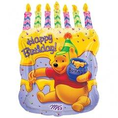 Balon Folie Figurina Tort Winnie the Pooh, 45x58 cm, 61612