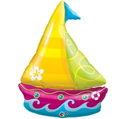 Balon Folie Figurina Barca Tropicala, Qualatex, 102 cm, 35368