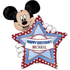 Balon Folie Figurina Mickey cu Personalizare, 60x83 cm, 26364
