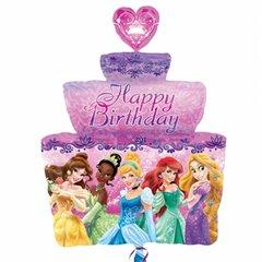Balon Folie Figurina Tort Aniversar Printese Disney, 84x71 cm, 26462