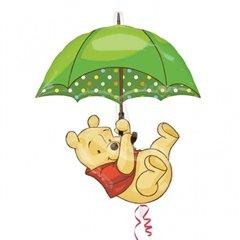 Balon Folie Figurina Winnie de Pooh cu Umbrela, 22322