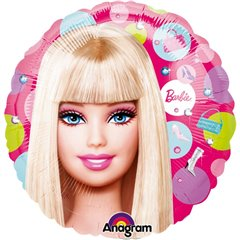 Balon Folie 45 cm Barbie Pattern, Amscan 118380-01
