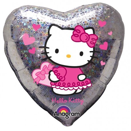 Balon Folie 45 cm Inima Hello Kitty Love, Amscan 17292