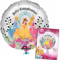"Balon Folie 45 cm ""Feliz Cumpleaños"" cu Printese Disney, Amscan 21419"