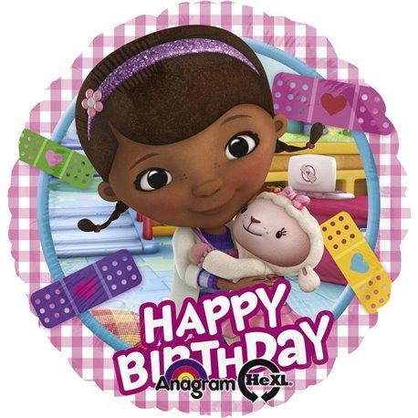 "Balon Folie 45 cm ""Happy Birthday"" Doctorita Plusica, 43 cm, 27534"