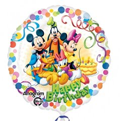 "Balon Folie 45 cm Mickey & Friends ""Happy Birthday"", Amscan 29007"