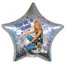 Balon Folie 45 cm Stea Hanna Montana - You're a star, Amscan 17841