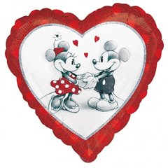 Balon Folie 45 cm Inima Love Mickey & Minnie 28040