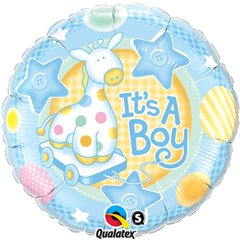 Balon Mini Folie It's a Boy, Qualatex, 23 cm, 32947