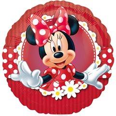 Balon Mini Folie Minnie Mouse 23 cm + bat si rozeta, Amscan 24820