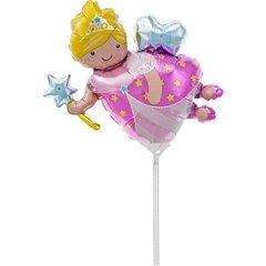 Balon Mini Figurina Bunica Zana + bat si rozeta, 00704