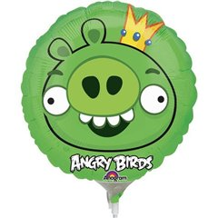 Balon Mini Folie King Pig, Angry Birds, Amscan, 23 cm, 25775