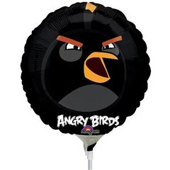 Balon Mini Folie Black Bird, Angry Birds, 23 cm, 25777