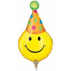 "Balon Folie Mini-Figurina Smiley - 14""/36 cm, Amscan 0772202, 1 buc"
