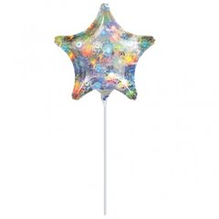 Balon Mini Folie Stea Holografica, 23 cm, 16270