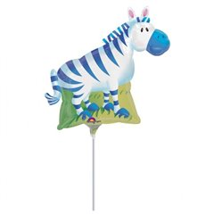 Balon Mini Folie Figurina Zebra, Amscan, 23 cm, 14309