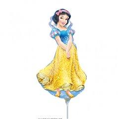 Balon mini figurina Alba ca Zapada - 23 cm, umflat + bat si rozeta, Amscan 28477