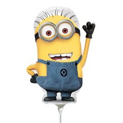 Balon Mini Figurina Minion + bat si rozeta, Amscan 29957