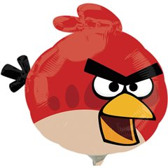 Balon Mini Folie Red Angry Birds, Amscan, 23 cm, 25694
