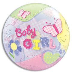 "Balon Bubble 22""/56cm Qualatex, Fluturi Baby Girl, 69729"