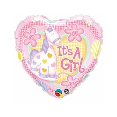 Balon Folie 45 cm It's a Girl Soft Pony, Qualatex 91297