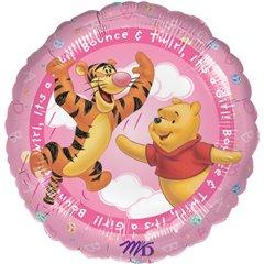 "Balon Folie 45 cm Winnie The Pooh - ""It's A Girl"", Amscan 0960401"