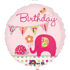 Balon Folie 45 cm Happy Birthday Baby Girl, Amscan 24491