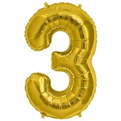 "Baloane Folie Mari cu Cifre 0-9 Gold - 34""/86cm, Northstar Balloons, 1 buc"